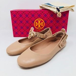 TORY BURCH MINNIE CONVERTIBLE STRAP FLATS SZ8